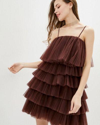 Коричневое вечернее платье Miss Sixty