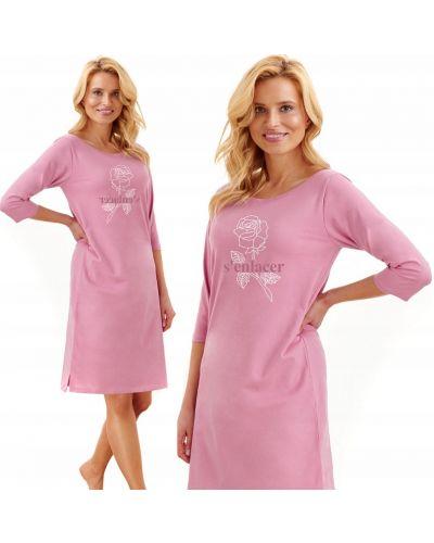 Różowa koszula nocna bawełniana Taro