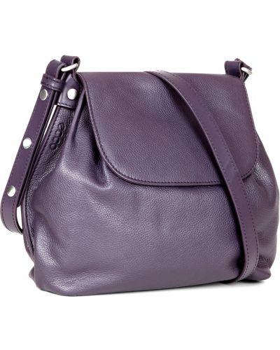 Боди кожаное фиолетовый Ecco