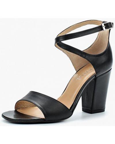 Черные босоножки на каблуке Keryful