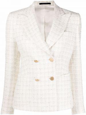 Белый пиджак длинный Tagliatore