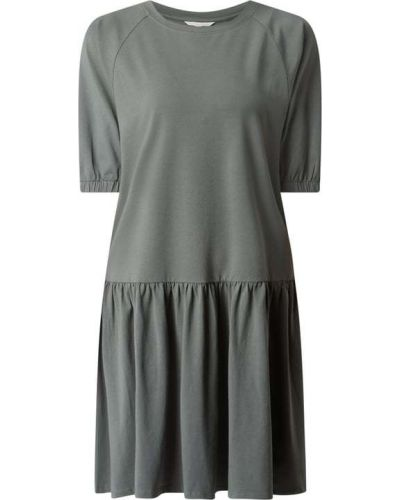 Sukienka rozkloszowana krótki rękaw - niebieska Tom Tailor Denim