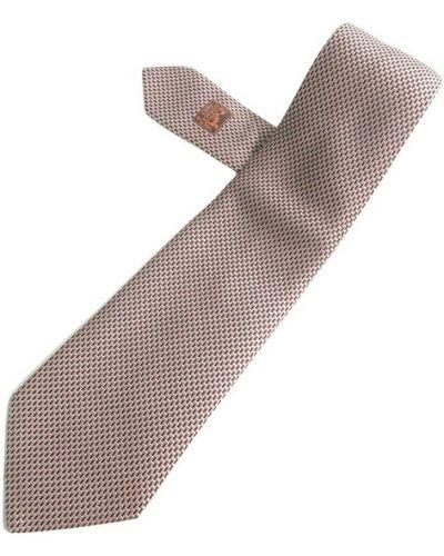 Krawat z jedwabiu - różowy Hermès Vintage