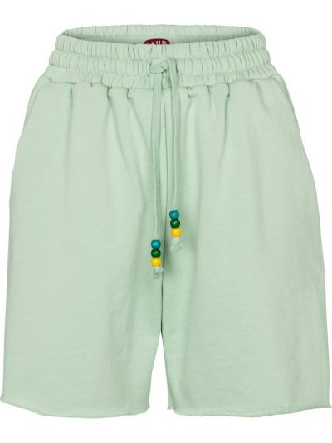 Ватные зеленые хлопковые шорты Staud