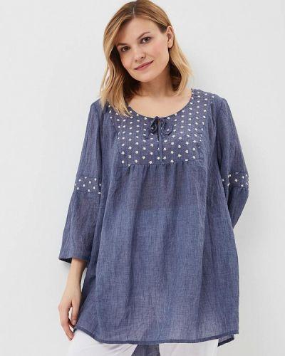 Блузка синяя серебряный Silver String