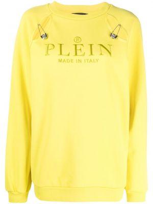 Хлопковая толстовка - желтая Philipp Plein