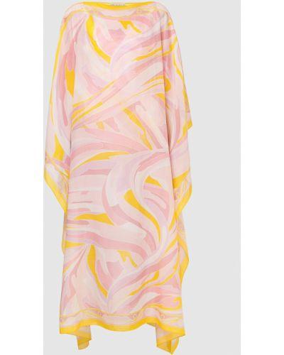 Розовая платье макси Emilio Pucci