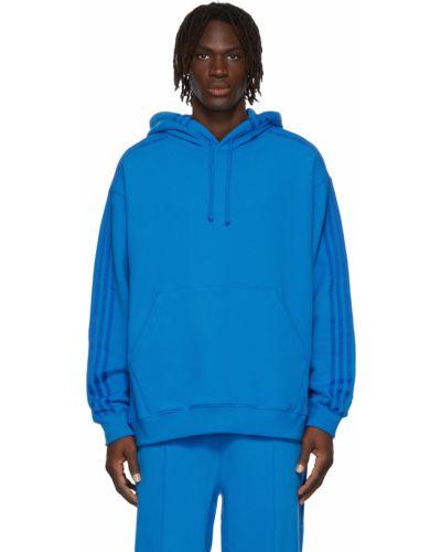 Синее худи в полоску Adidas X Ivy Park