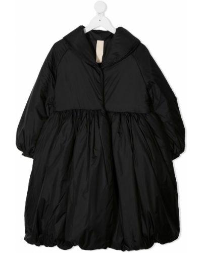 Czarny długi płaszcz z długimi rękawami Little Creative Factory Kids