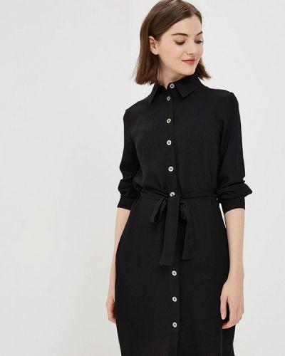Платье платье-рубашка черное Po Pogode