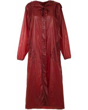 Прямая черная длинная куртка Mara Mac