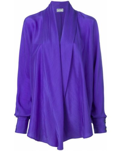 Драповая фиолетовая рубашка винтажная на пуговицах Versus Pre-owned
