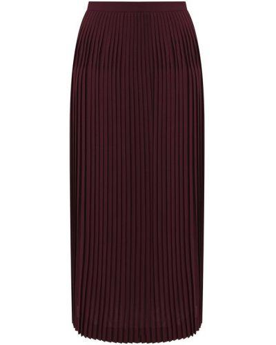 Плиссированная юбка миди бордовый Loro Piana