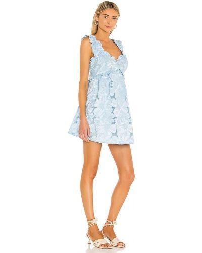 Платье с вышивкой - синее For Love & Lemons