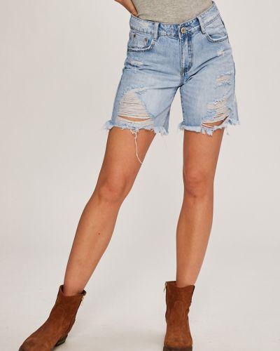 Джинсовые шорты с карманами на пуговицах Answear