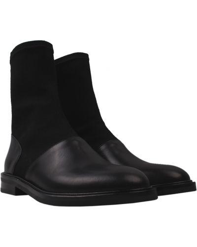 Кожаные ботинки - черные Basconi