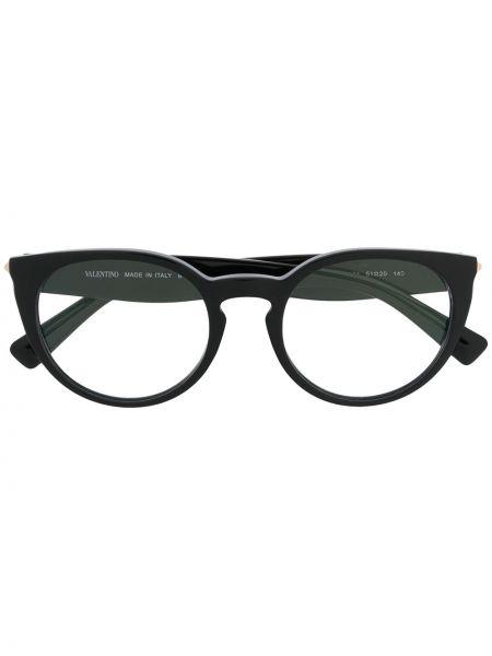 Черные очки круглые Valentino Eyewear