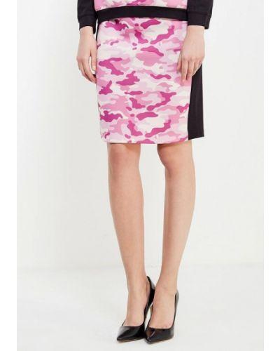 Розовая прямая юбка карандаш ли-лу