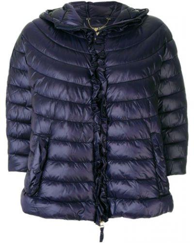Стеганая куртка с капюшоном трапеция длинная Twin-set