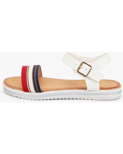 Белые кожаные сандалии Queen Vivi