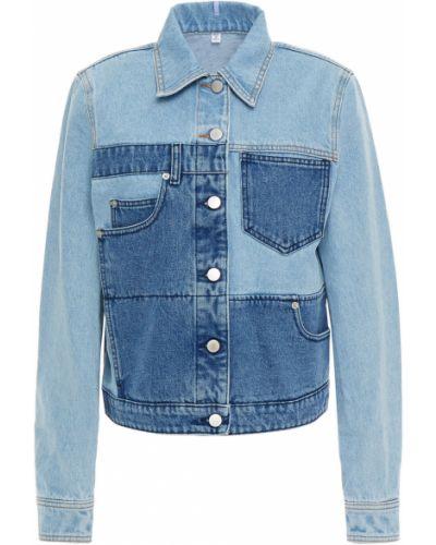 Хлопковая джинсовая куртка - синяя Mcq Alexander Mcqueen