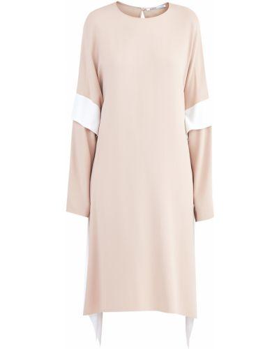 Платье розовое со вставками Agnona