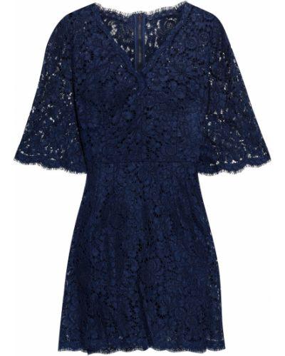 Хлопковое кружевное платье мини на крючках Dolce & Gabbana