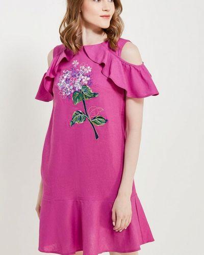 Прямое фиолетовое платье Indiano Natural