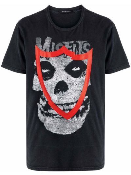 Czarny t-shirt bawełniany vintage Htc Los Angeles