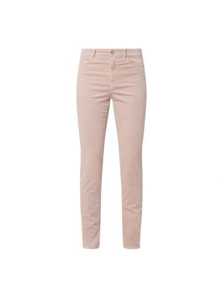 Różowe spodnie bawełniane Marc Cain