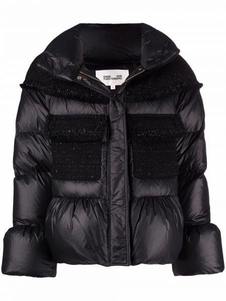 Czarna kurtka wełniana Dvf Diane Von Furstenberg