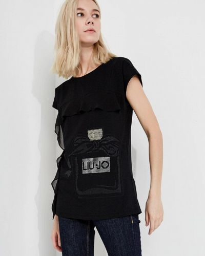 Черная футболка Liu Jo