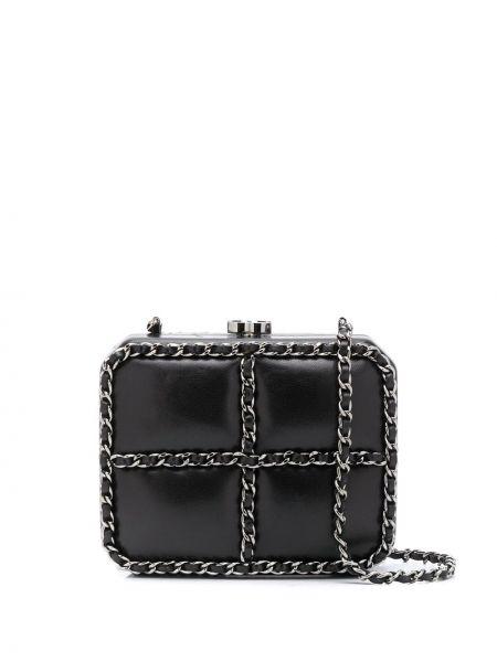 Черная сумка на цепочке металлическая Chanel Pre-owned