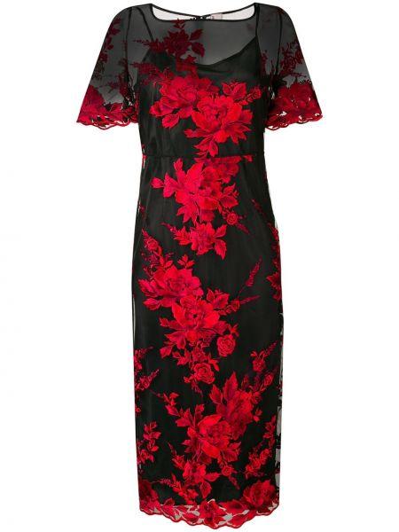 Платье мини с цветочным принтом на молнии Antonio Marras
