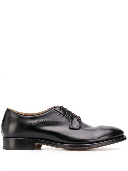 Черные кожаные туфли на шнурках Alberto Fasciani