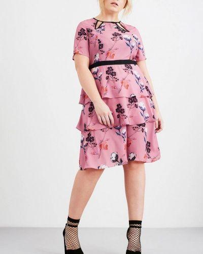 Платье розовое Lost Ink Plus