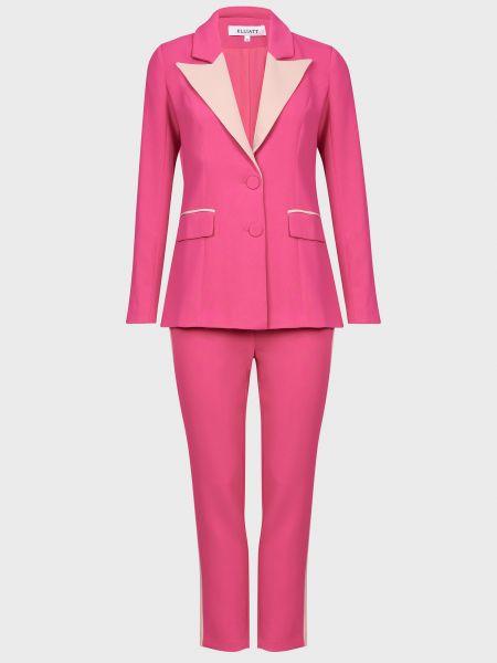 Костюмный розовый костюм на молнии Elliatt