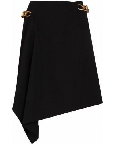 Wełniany asymetryczny czarny spódnica mini Givenchy