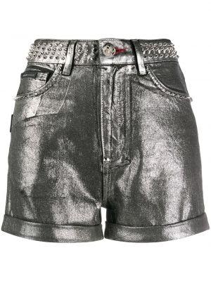 Хлопковые шорты с карманами с отворотом Philipp Plein