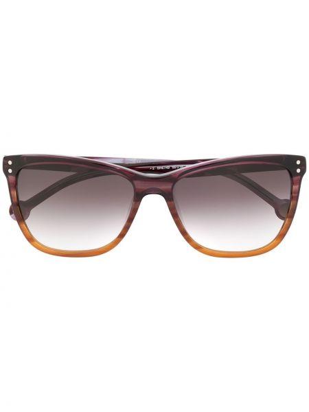 Прямые фиолетовые солнцезащитные очки металлические Ch Carolina Herrera