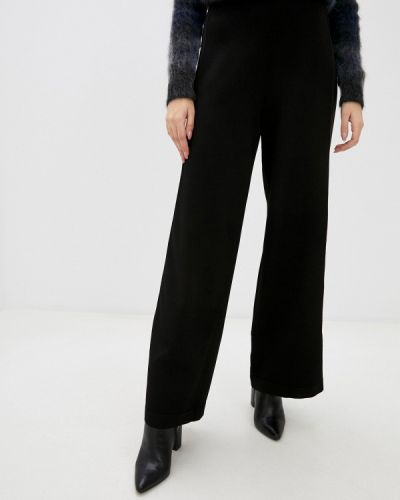 Повседневные черные брюки Stefanel