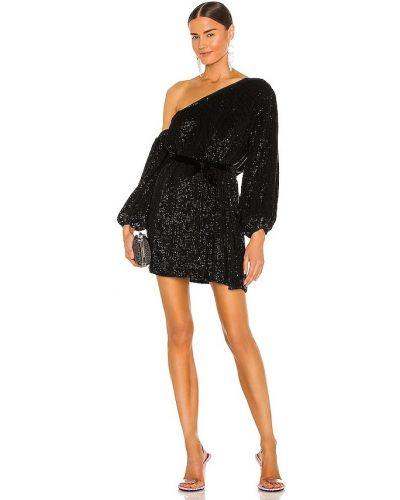 Czarna sukienka z wiskozy na koturnie Retrofete
