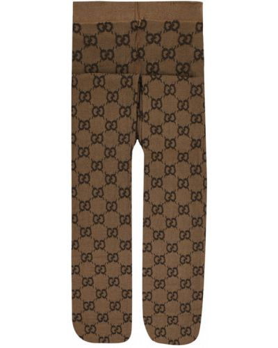Rajstopy - brązowe Gucci