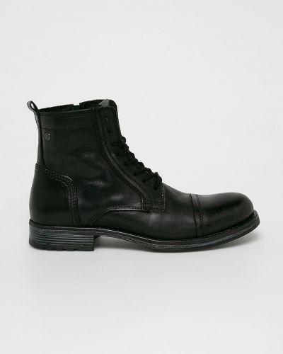 Кожаные ботинки повседневные высокие Jack & Jones