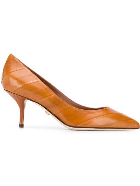 Лодочки на каблуке - коричневые Dolce & Gabbana