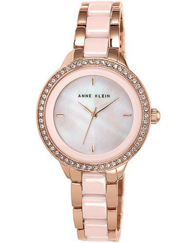 Кварцевые часы водонепроницаемые с камнями Anne Klein