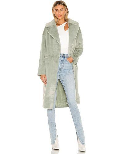 Свободное синее пальто из искусственного меха Elliatt