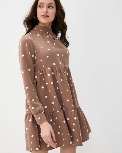 Прямое розовое платье Pink Summer
