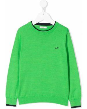Зеленый джемпер Sun 68