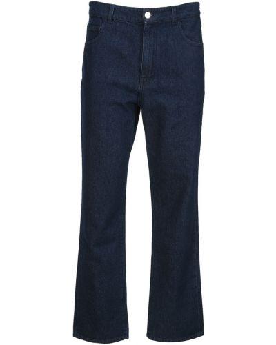 Niebieskie mom jeans Raf Simons